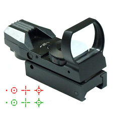 Tactical Holographic Red Green Dot Sight Scope Reflex 4 Reticle Fit 20mm Rail