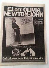 OLIVIA NEWTON-JOHN Olivia album 1978 UK Poster size Press ADVERT 16x12 inches