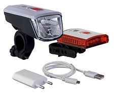LED Fahrradlampe 40 Lux Li-ion Akku USB Ladegerät gem. StVZO Büchel