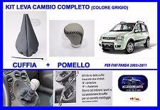 Cuffia Leva Marce Pomello Colore Grigio per Fiat Panda dal 2003 2012 Kit Pomello