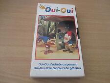 cassette vhs oui-oui oui-oui s'achete un parasol & oui-oui et le concours de gat