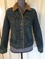 Gap Women's Size Small  Denim Jacket With Artificial Fur Insight