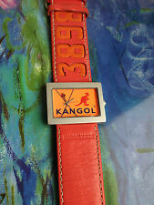 KANGOL LADIES ORANGE WATCH LEATHER CHANKY STRAP NEW BATTERY /WORKING