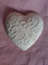 Ornate Butterfly heart rubber latex mould mold wall decor plaque home garden use