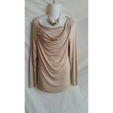 U-KNIT Size XS Pink Drape Neck Top Long Sleeve NWT $54