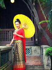 Red Thai new year traditional Dress  Costume  Skirt Shawl National Product