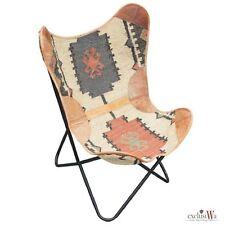 Design Lounge Stuhl Butterfly Rindsleder Faltstuhl Sessel Lederstuhl Ledersessel