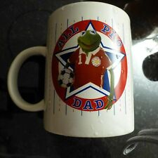 """KERMIT the frog """"all pro DAD"""" mug muppets - Henson pre-owned FREE SHIPPING -Q"""