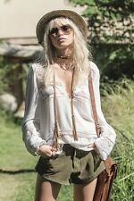 NWT Spell Gypsy Designs Collective Sienna Luxe Lace Blouse Ivory XS