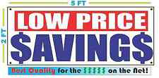 LOW PRICE SAVINGS Banner Sign NEW XXL Size Best Quality for the $$$$ RW&B