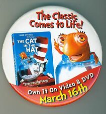 Vintage Cat in the Hat Movie Pinback Button