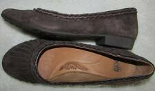 SOFFT Brown Suede Leather Flat Slip On Ballet Comfort Casual Shoes 9M