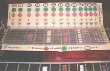 """ChordBoard"" for Pedal Steel Guitar E9th tuning"