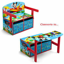 DELTA CHILDREN DISNEY MICKEY MOUSE CONVERTIBLE BENCH / DESK / TOY STORAGE BOX
