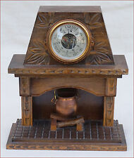 French Doll House Fireplace Miniature Barometer Copper Caldron Fecamp Normandy