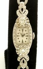 Fabulous Ladies 14K White Gold Diamond Hamilton Wrist Watch with 1CT of Diamonds