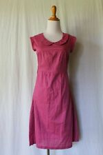 Peel Design Co Vancouver Raspberry Cotton Voile Peter Pan Collar Dress XS