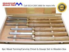 Wood Turning/Carving Lathe Gouge & Chisel Set 6pc in Wooden Box