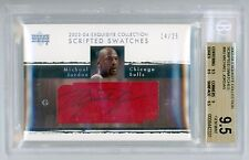 Michael Jordan 2003-04 UD Exquisite Scripted Swatch Auto 14/25 BGS 9.5 GEM MINT