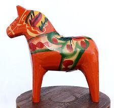 Vintage SWEDEN Wood DALA HORSE Nils Olsson NUSNAS Label CARVING Folk Art