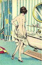 Erotik, nackte Dame im Bad, von einem Mann beobachtet, um 1910/20