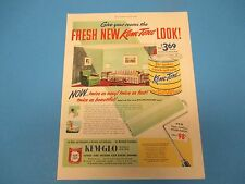 1950 Gem-Glo Paint Print Ad The New Kem-Tone Look PA008