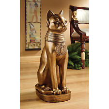 Ancient Bastet, Feline Goddess Egyptian Cat Sarcophagus Museum Replica Statue