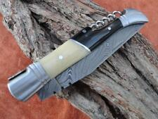 Damast Taschenmesser,  Damascus Folding Knife,