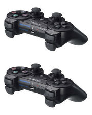 2*Pcs Black Wireless Bluetooth Controller For Sony PS3 PlayStation 3 Dualshock 3