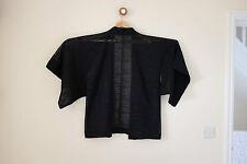 Vintage noir japonais kimono veste courte compensés