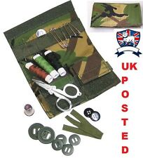 S95 SEWING SEW KIT POUCH - BRITISH ARMY FOREST CAMO DPM - Scissors