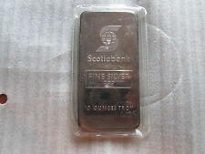 Johnson Matthey Sealed 10 oz JM Scotiabank .999 Silver Bar Under 10000 Made