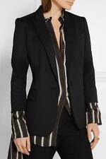 STELLA MCCARTNEY Black Ingrid wool blazer UK10 IT42  rrp695GBP