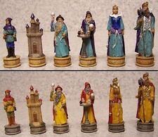 "Chess Set Pieces Fantasy Sorcerers Wizards NIB 3 1/4"" Kings"