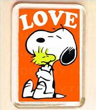SNOOPY LOVE SMALL FRIDGE MAGNET -  COOL!
