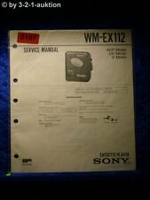 Sony Service Manual WM EX112 Cassette Player (#2107)
