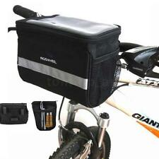 Cycling Bicycle Bike Handlebar Bag Front Tube Pannier Rack Bag Basket Waterproof