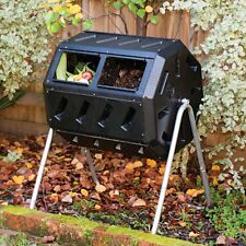 Forest City Yimby Compost Tumbler with Two Chambers, Black