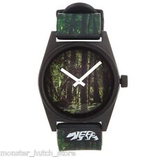 NEW IN BOX Neff DAILY WILD Adjustable Wrist Watch FORGOTTEN GREEN LIMITED RARE