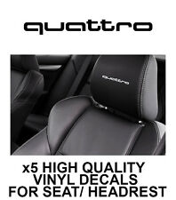 AUDI QUATTRO HEADREST LOGO CAR SEAT DECALS Vinyl Stickers - Graphics X5