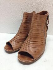 Paul Green Cayanne Tan Royal Leather Peep Toe Ankle Booties Size UK 3.5 Uk 6