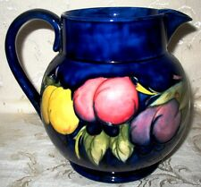 Moorcroft Pottery-1930's Pitcher Wisteria Plum Design Signed by William in Blue