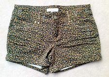 Forever21 Leopard Animal Prints Spots Denim Hot Pants 5pocket Club wear Shorts