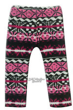"Pink Black Fair Isle Leggings for 18"" American Girl Doll Clothes Accessories"