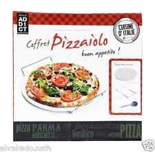 COFFRET PIZZA PIERRE SUPPORT ET ROULETTE PIZZAIOLO CUISINE