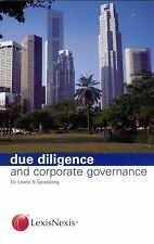 Due Diligence and Corporate Governance by Linda S. Spedding (2005, Paperback)