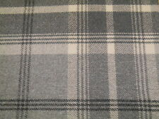 Porter & Stone Balmoral Tartan Wool Effect  Upholstery Fabric  - Dove Grey