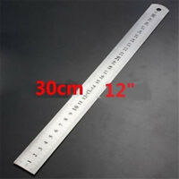 """FD997 30CM 12""""Steel Stainless Pocket Pouch Metric Metal Ruler Measurement ~1pc:"""