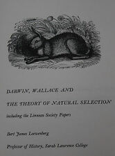 DARWIN, WALLACE AND THE THEORY OF NATURAL SELECTION