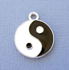 5 pcs Yin Yang Sign Enamel Pendant Charms Dangle DIY Jewelry findings c187